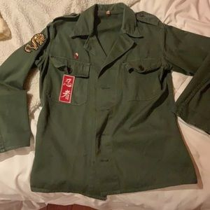 Green Army Jacket (Vintage)